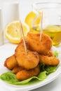 Breaded shrimp snack Stock Image