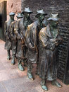 The breadline by george segal washington dc april closeup of s sculpture part of franklin delano roosevelt memorial memorial Royalty Free Stock Photo