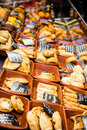Breads at an open market assorted air in spain Royalty Free Stock Image
