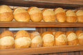 Breads well done fresh inline at bakery Royalty Free Stock Images