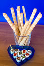 Breadsticks And Seasoned Cheese Royalty Free Stock Images