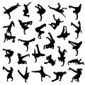 Break dance silhouettes this is file of eps format Stock Image