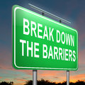 Break down the barriers. Stock Photography