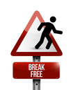 Break free sign illustration design over a white background Stock Photography