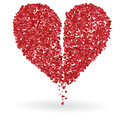 Break heart white background Stock Photography