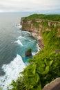 Break the noisy sea uluwatu bali indonesia Stock Images