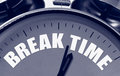 Break Time Concept Royalty Free Stock Photo
