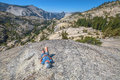 Break after Yosemite hiking Royalty Free Stock Photo