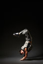 Breakdancer in freeze Stock Photography