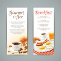 Breakfast Banners Set Royalty Free Stock Photo