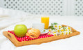 Breakfast in bed. Royalty Free Stock Photo