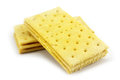 Breakfast biscuit on white background Stock Photos