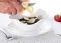 Breakfast of bran flakes blueberries Stock Image