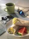 Breakfast Burito Stock Photo