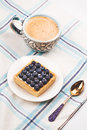 Breakfast of Cake and coffee Royalty Free Stock Photo