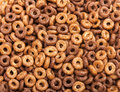 Breakfast cereal close up top view Royalty Free Stock Photos