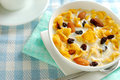 Breakfast cereal with soya bean milk Royalty Free Stock Photography