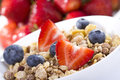 Breakfast with cereals Stock Photo