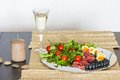 Breakfast cold food platter Royalty Free Stock Photo