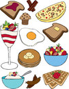 Breakfast collection a of vector items Stock Photo