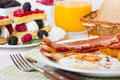 Breakfast, eggs and bacon Royalty Free Stock Photo