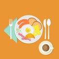 breakfast with eggs, eggs, breakfast
