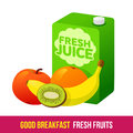 Breakfast elements vector flat and line icon fruits and fresh juices fresh and healthy diet food web design web icon food menu on Royalty Free Stock Photography
