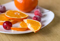 Breakfast with frozen fruits and orange Royalty Free Stock Photography