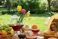 Raňajky v záhrada