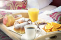 Breakfast in the hotel bed