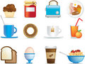 Breakfast icons Stock Image