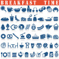 Breakfast icons set.