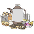 Breakfast item set an image of items Stock Images