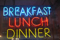 Breakfast Lunch Dinner Royalty Free Stock Photo