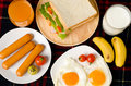 Breakfast or meal Royalty Free Stock Photo