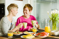 Breakfast moment Royalty Free Stock Photography