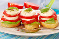 Breakfast with mozzarella and tomato Royalty Free Stock Photo