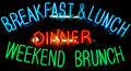 Breakfast Neon Sign Stock Photography