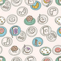 Breakfast Pattern Royalty Free Stock Photos