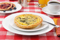 Breakfast quiche Stock Images