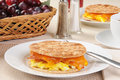 Breakfast sandwich Stock Images