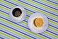 Breakfast Sandwich With Coffee Royalty Free Stock Images