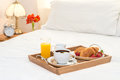 Breakfast Served In Bed Royalty Free Stock Photo