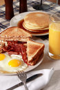 Breakfast Serving of Bacon and Eggs Royalty Free Stock Photo
