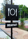 Breakfast Signboard in Black and White color