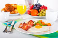Breakfast table Stock Images