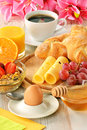 Breakfast on the table Stock Image