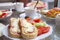 Breakfast on the Terrace Royalty Free Stock Photo