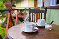 Breakfast at the terrace Royalty Free Stock Photo