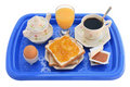 Breakfast tray (clipping path) Royalty Free Stock Photos